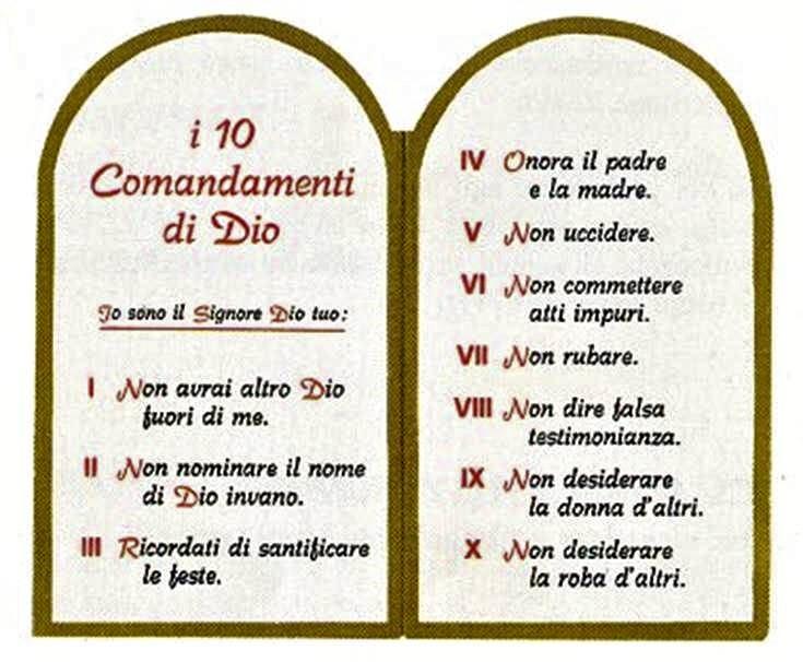 I 10 COMANDAMENTI